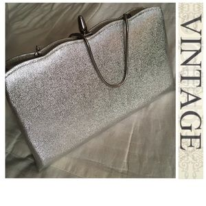 NWT Vintage 60s 70s Silver Lame' Dance Club Bag